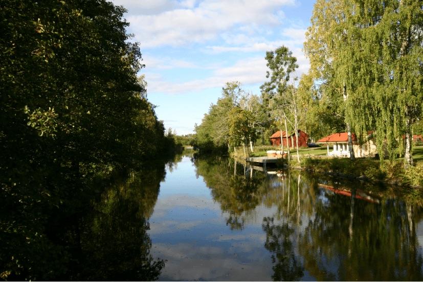 Schenströmska herrgårdens närliggande vattendrag